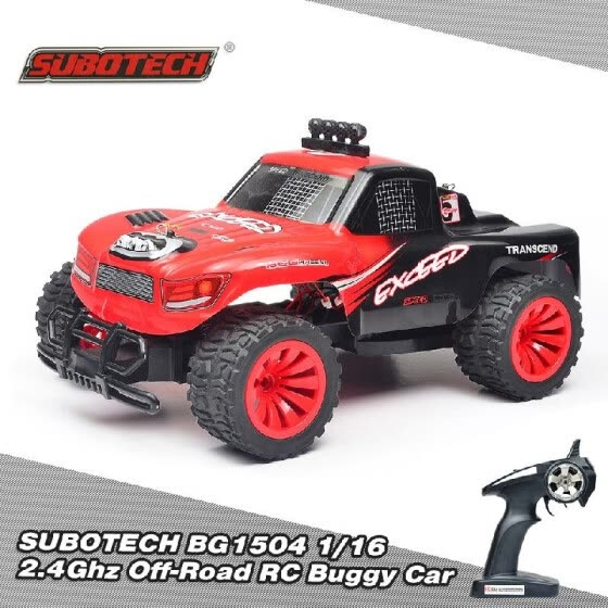 Original SUBOTECH BG1504 1/16 2.4G 2CH High Speed Racing Off-Road Buggy RC Car RTR