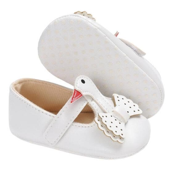 New Swan Style Baby Shoes Soft Sole First Walker Girls Boys Moccasins Shoes 0-18M Infant Toddler Baby Party Dress Shoes