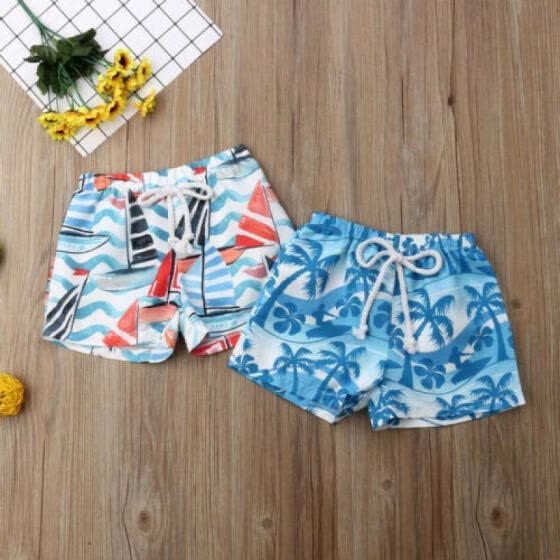 UK Kids Boy's Children Summer Beach Swimwear Swimsuit Swimming Beachwear Shorts