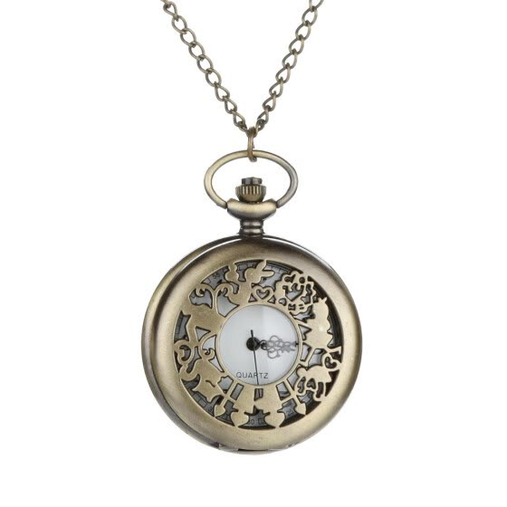 Personalized Pattern Steampunk Vintage Quartz Roman Numerals Pocket Watch