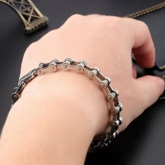Titanium Steel Classic Men's Cool Bracelet Link Chain Wristband Bangle Jewelry
