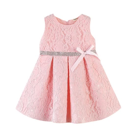 Summer Children Kids Girl Cute Dress Baby Girl Bowknot Sleeveless Lace Tutu Princess Ball Gown Party Dress