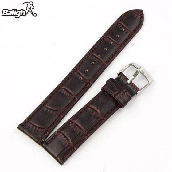 Unique PU  Leather Strap Steel Buckle Wrist Watch Band Soft 18~24mm