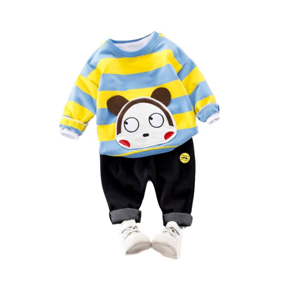 Toddler Baby Boy Girl Cartoon Monkey Pullover Cotton Infant Knit Sweater
