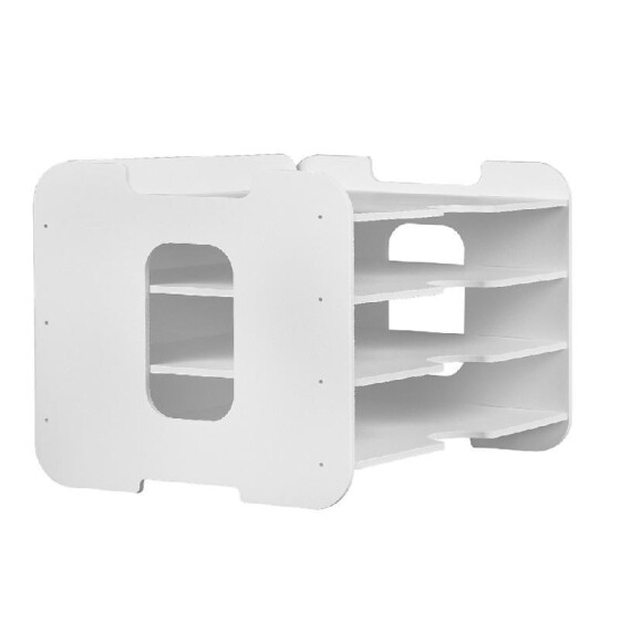 Book Ends Shelf Iron Support Holder Desk Stands Stationery Storage Organizer