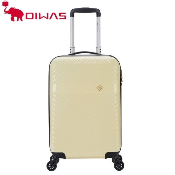 OIWAS PC Luggage Trolley case Business 20 inch Travel Suitcase Business Trip Black