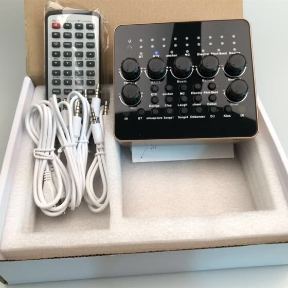 3D direct mobile phone computer sound card mixer audio controller voice changer live K song anchor processor remote control KTV