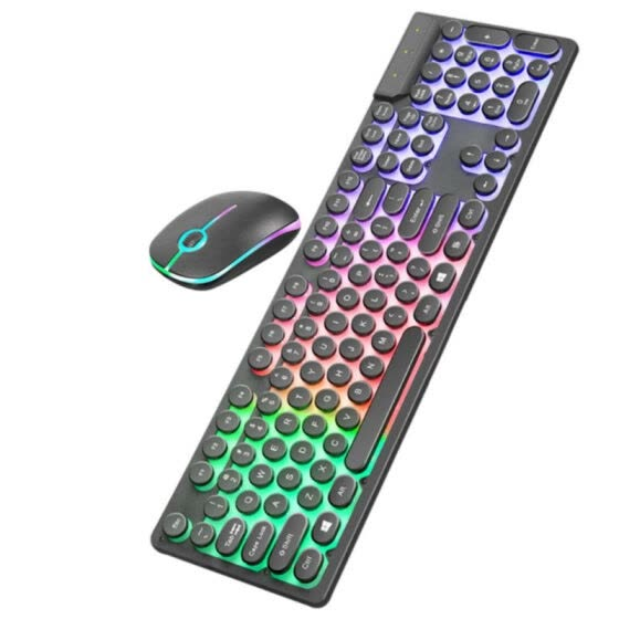 Wired Mechanical Illuminate Keyboard Portable Games USB Mouse Backlit Keyboard Game Touch Mouse Set