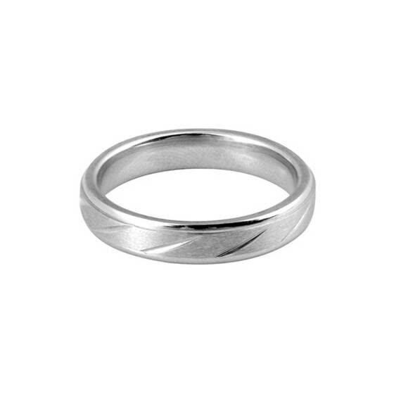 Men Women Twill Stripe Stainless Steel Rings Couple Wedding Birthday Gift Rings Jewelry
