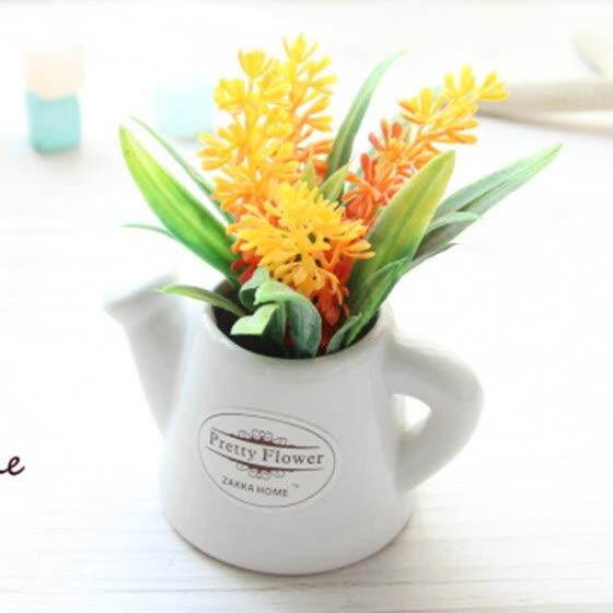 Shop Small Artificial Plants Decorative Flowers Mini Potted Kettle Bonsai Plants Online From Best Artificial Plants On Jd Com Global Site Joybuy Com