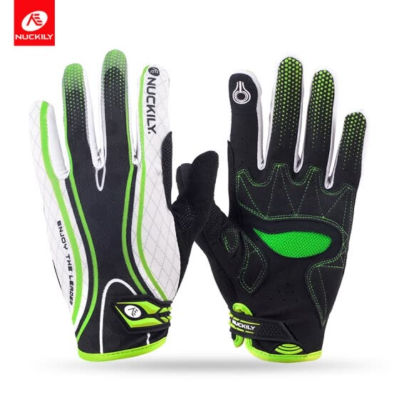 NUCKILY New Design Touch Screen Full Finger Cycling Gloves For Adults