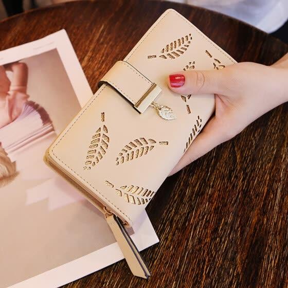 9dcbcc0c08d Shop DALFR PU Leather Wallet Women Luxury Female Clutch Fashion ...