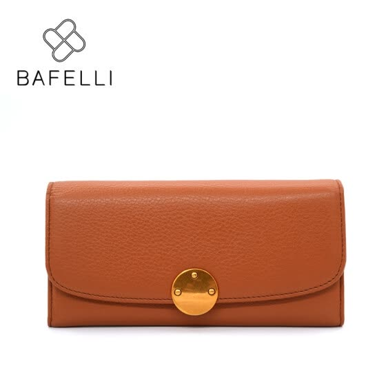BAFELLI women money clip genuine leather long wallets simple zipper & hasp carteira purse black brown coin pocket wallet women