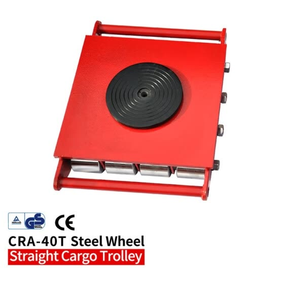 40T Industrial cargo trolley Machine Dolly Skate Roller Machinery Mover 360 degree Rotation Cap CRA-40T-SW