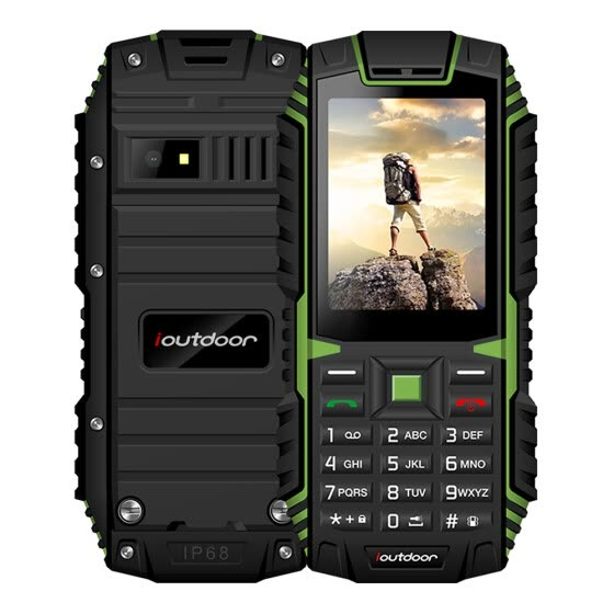 Ioutdoor T1 Tri-proof Feature Mobile Phone 2G GSM 2.4inch MTK6261A CPU 128MB+32MB Storage 2MP Rear Camera 2100mAh Battery IP68 Wat