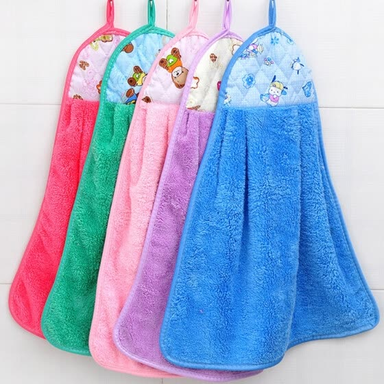 [Jingdong supermarket] green reed creative non-stick oil washing towel towel towel 4 loaded color random