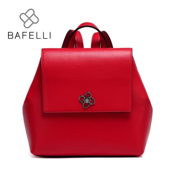 BAFELLI 2017 Genuine Leather backpacks teenage girls school backpacks womens  luxury backpack red black bolsa mujer 84d7acf574c69