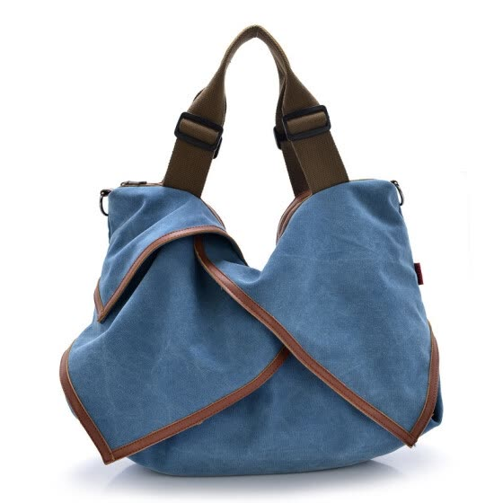 AEROLINE®Casual canvas shopping bag woman patchwork hobo shoulder messenger bags extra large tote bag for ladies vintage handbag