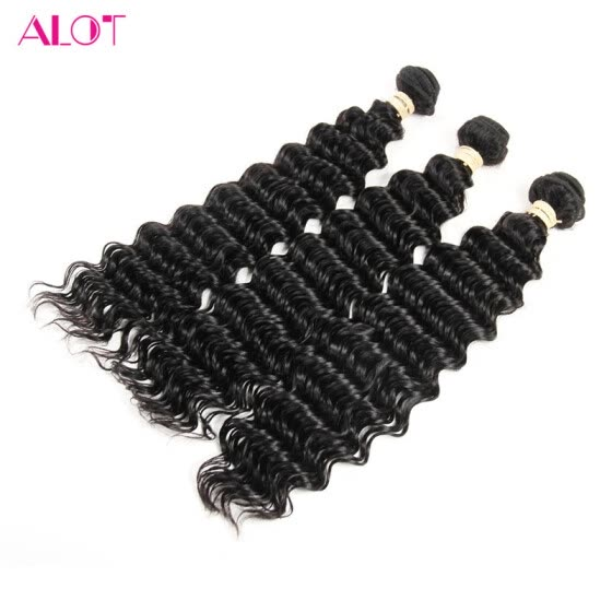 Alot Hair Malaysian Deep Wave 3 PCS Hot Sale Deep Wave Remy Hair