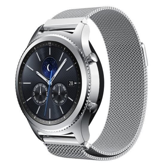Shop 22mm Milanese Loop Adjustable Stainless Steel