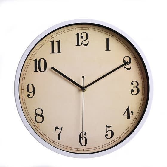 Metal wall clock simple clock silent quartz movement watch for bedroom living room 12 inches 30CM