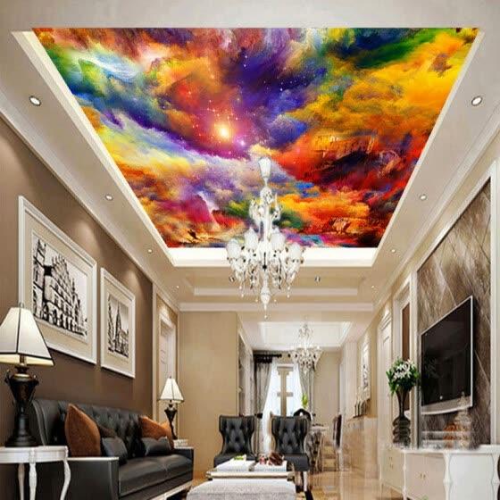 shop restaurant clubs ktv bar ceiling murals dazzle color clouds oil rh joybuy com