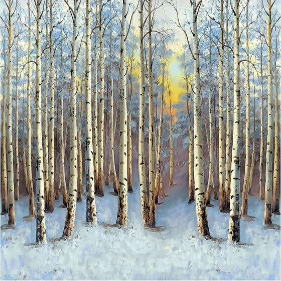 Personalized Customization 3D Mural Wallpaper Snow Forest Landscape Photo Wall Paper For Living Room Bedding Room Backdrop Wall