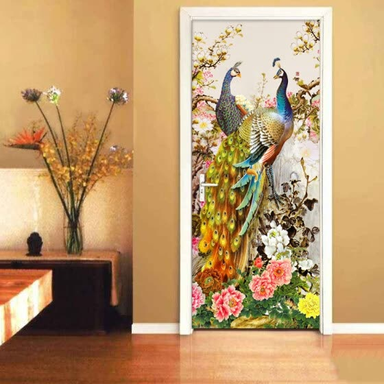 shop chinese style romantic peacock 3d wallpaper living room photo