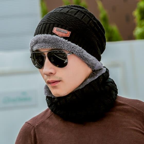Dusena (DUSENNA) sombrero sombrero de lana caliente macho además de  terciopelo sombrero de punto 54e7e45826c