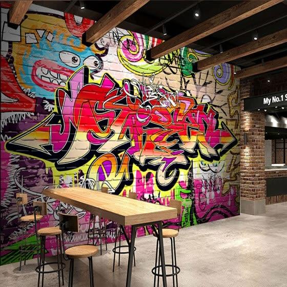 Shop Custom Mural Wallpaper Scenery For Walls Street Graffiti