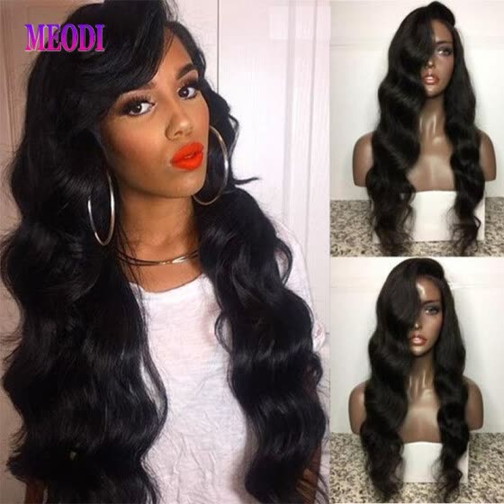 New Style 100% Brazilian Human Hair Lace Wig Kinky Curly Natural Hair Lace Front Wigs With Baby Hair For Woman
