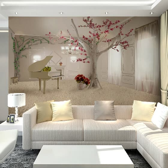 Shop Custom Any Size 3d Wall Murals Wallpaper For Living Room Modern Fashion Beautiful Photo Murals Tree Wall Papers Home Decor Online From Best Wall Stickers Murals On Jd Com Global Site
