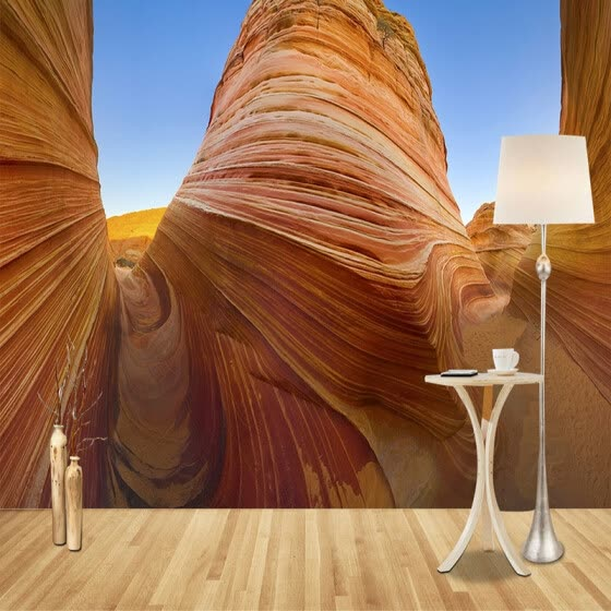 Custom Photo Wall Mural Wallpaper Modern Simple Art Abstract Canyon Rock 3D Stereoscopic Effect Backdrop Wallpaper Wall Covering