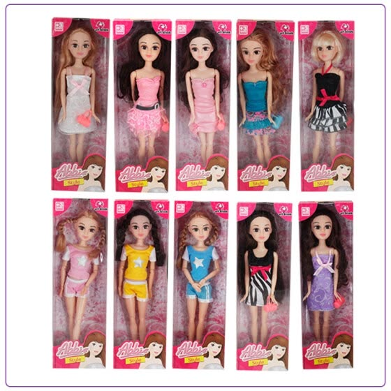 Shop Abbie Lens Eyes with 3D Curl Eyelashes Doll Toys Clothes Gown