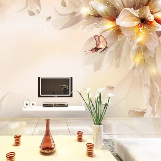 Shop Chinese Style Flowers Butterfly 3d Mural Wall Painting Modern