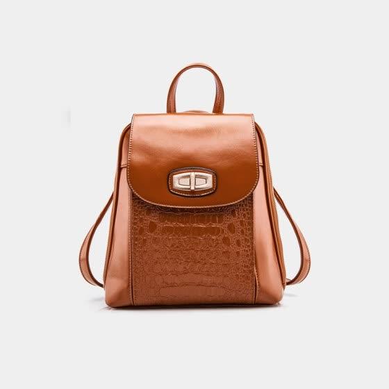 Aliwillam® 2016 New Women s Fashion Backpack Korean Style School Bags for  girls crocodile pattern PU 86f633ef41