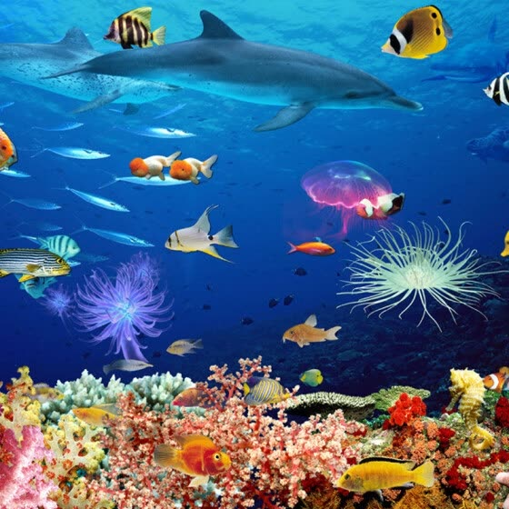 Custom Photo Wallpaper 3D Underwater World Children's Room Mural Wall Decorations Living Room Bed Room Modern Wall Paper Rolls
