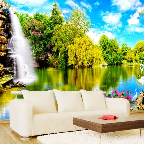 Shop 3d Wall Mural Wallpaper For The Walls Chinese Landscape