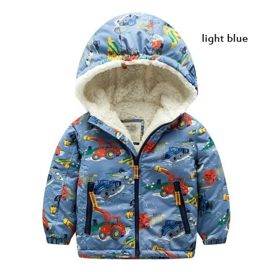 Meanbear Cotton-padded Clothes Boys and Girls Plush Winter Coat The Windbreak Thicken Cotton Padded Clothes & 3-8 Year Old