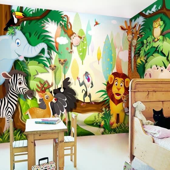 Shop Custom Children S Room Mural Wallpaper 3d Cartoon Forest
