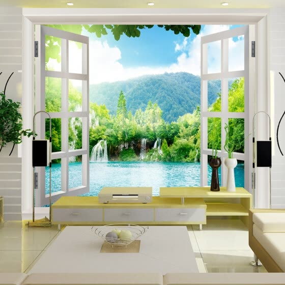 Shop Custom 3d Mural 3d Stereo Wallpaper Living Room Bedroom