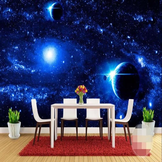 Shop Universe Starry Galaxy Planet Custom Photo Mural Background