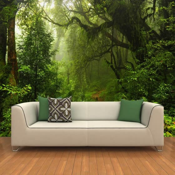 Custom 3D Wall Murals Wallpaper Primeval Forest Large Wall Painting Modern Living Room TV Background Decor Photo Mural Wallpaper
