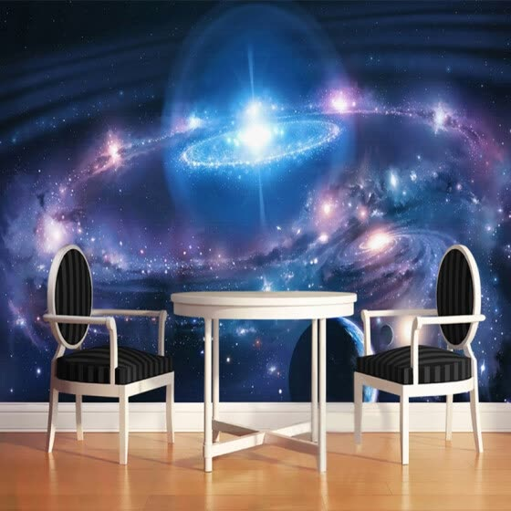 Shop Modern Minimalist Starry Sky Cosmic Galaxy 3d Wall