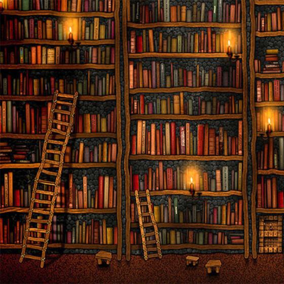 Home Decor 3D Bookshelf Wallpapers Wall Sticker Study Library Background