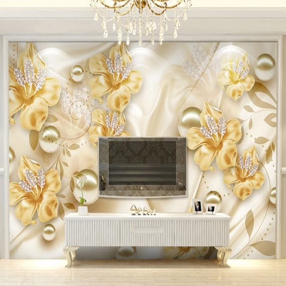 Shop Custom Mural Wallpaper For Walls 3D Diamond Jewelry ...