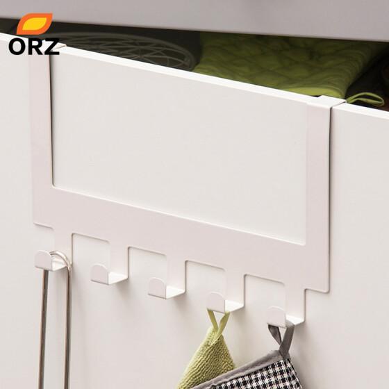 Hanging Rack Holder Hook Bag Towel Storage For Cupboard Door Kitchen Cabinet