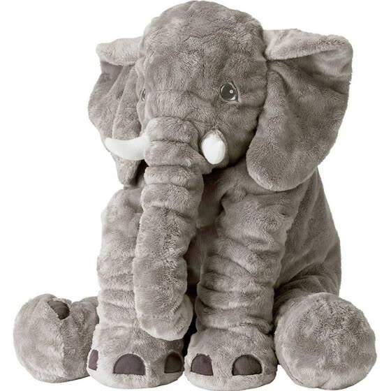 Cartoon Large Plush Elephant Toy Kids Make interest to Play with stuffed Elephant Birthday Gift for Kids - 60cm