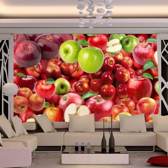 Shop 3d Wallpaper Fresh Fruit Apple Backdrop Wall Mural Kitchen