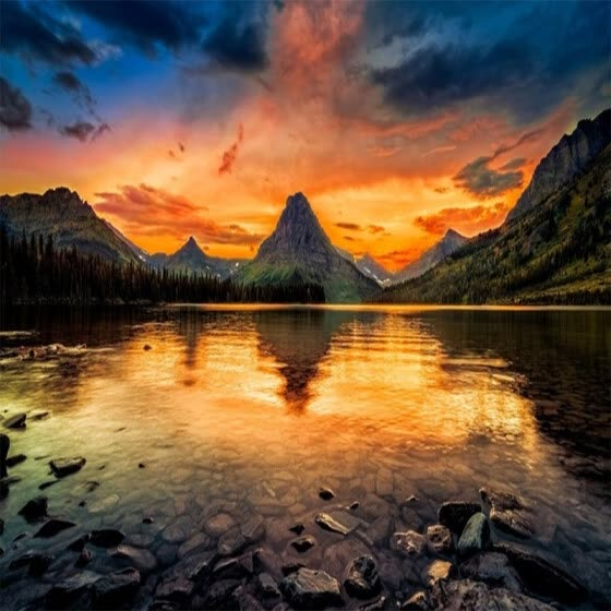 Custom 3D Nature Scenery Photo Mural Wallpaper Landscape Under the Sunset Mountains And Lake Wall Paper TV Sofa Backdrop